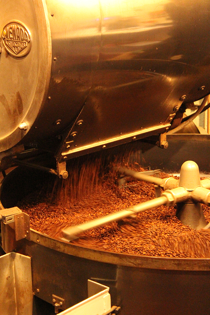 coffee bean cooling process